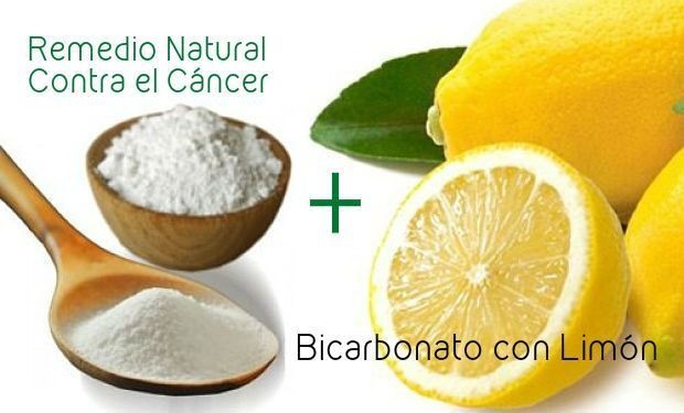 limon con bicarbonato de sodio cancer