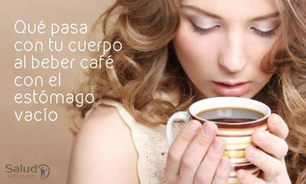 beber cafe con el estomago vacio