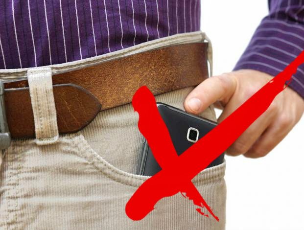 llevar el celular en el bolsillo del pantalon es peligroso
