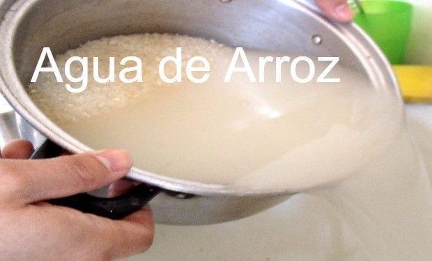 agua de arroz beneficios